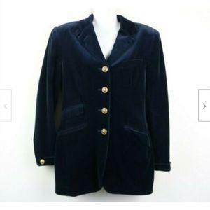 Ralph Lauren Velvet Long Sleeve Blazer